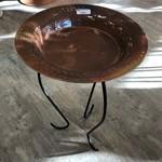 Metal Copper-Plated Bird Bath