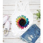 Colorful Sunflower Tank