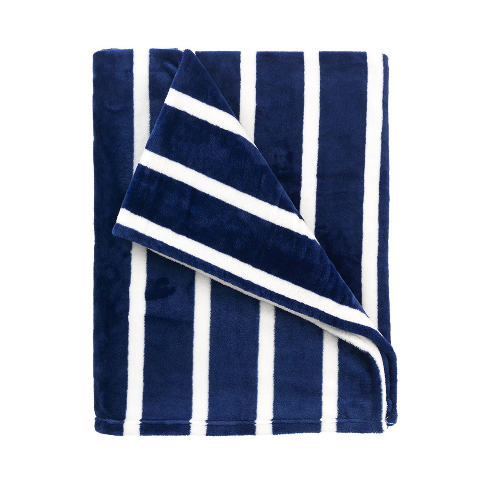 Navy Stripe Blanket