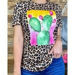 Southern Stitch Leopard Cactus Top