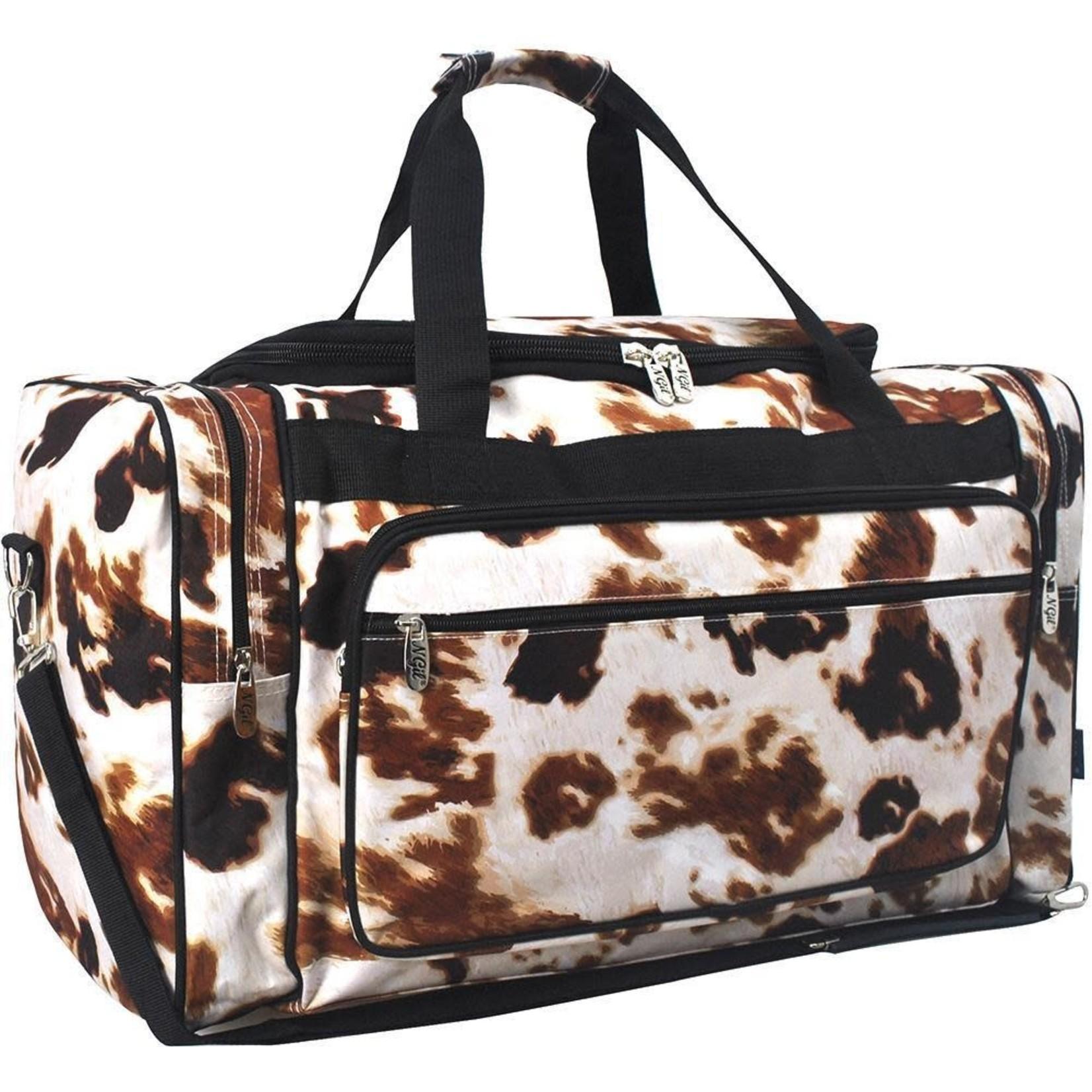 "NGil Cow Print NGIL Duffle Bag 23"""