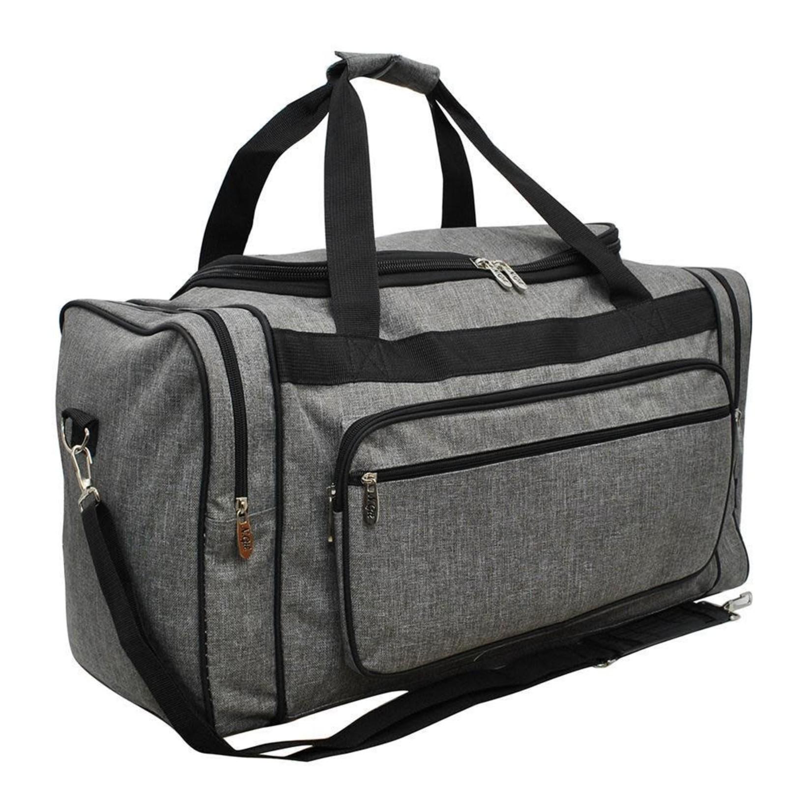 """NGil Crosshatch Gray NGIL Duffle Bag 20"""""""