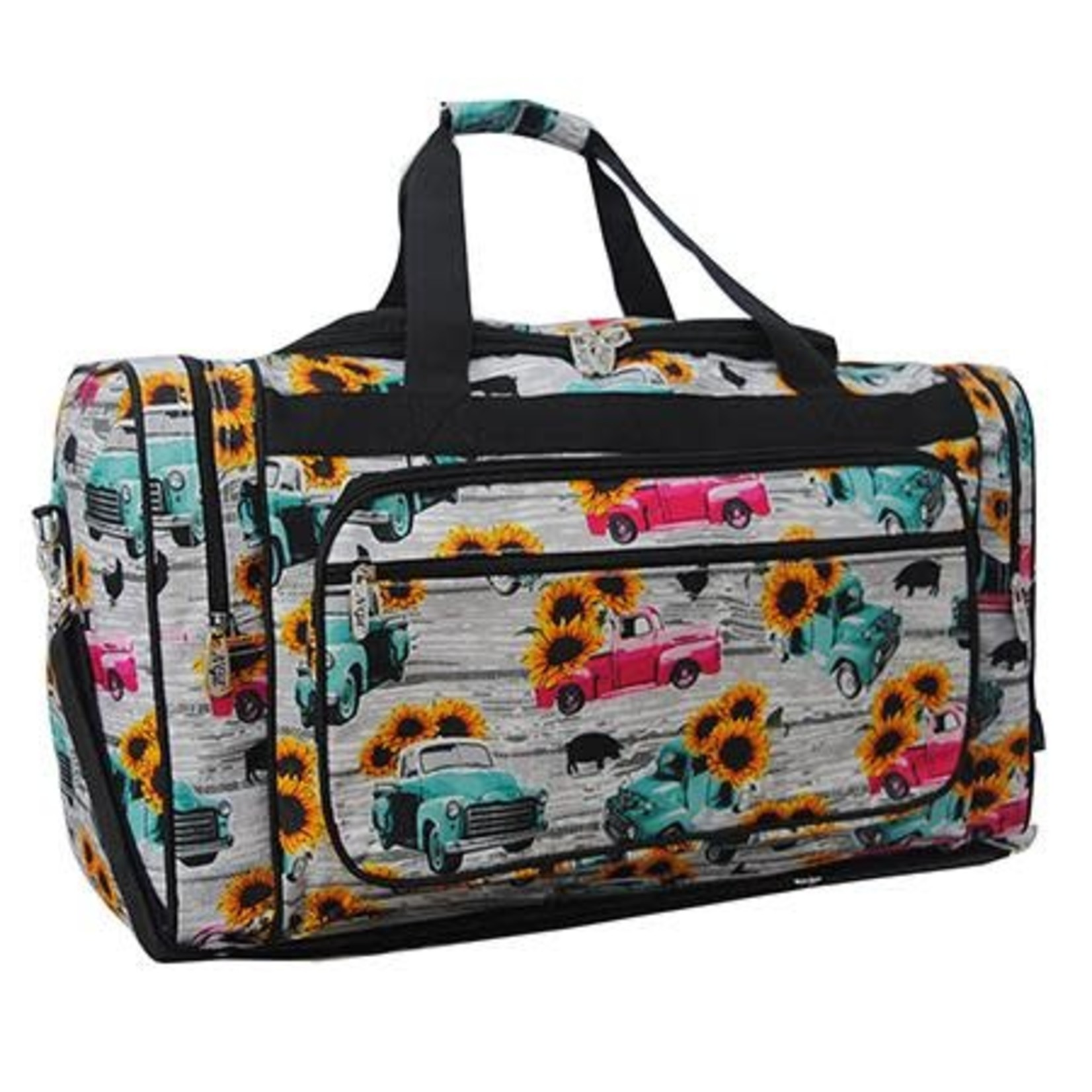 """Sunflower southern vintage truck 23"""" duffle bag"""