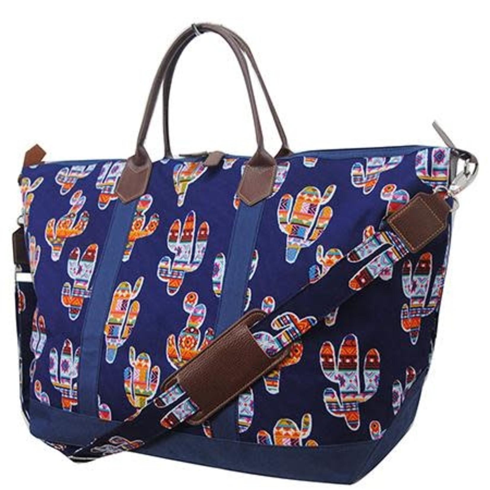 Colorful Cactus Weekender Bag