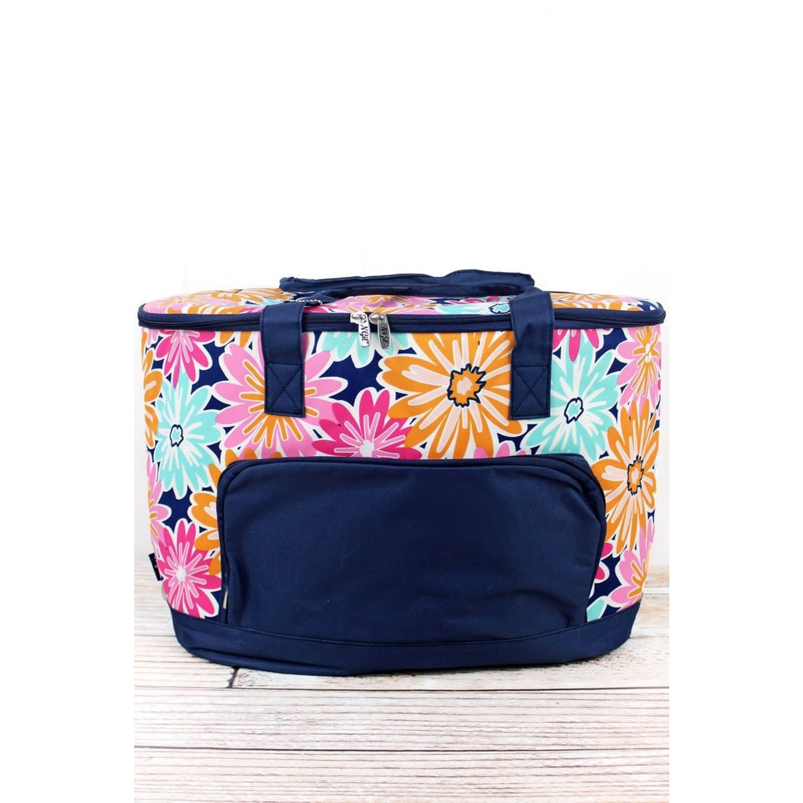 Flower Power Cooler with Navy