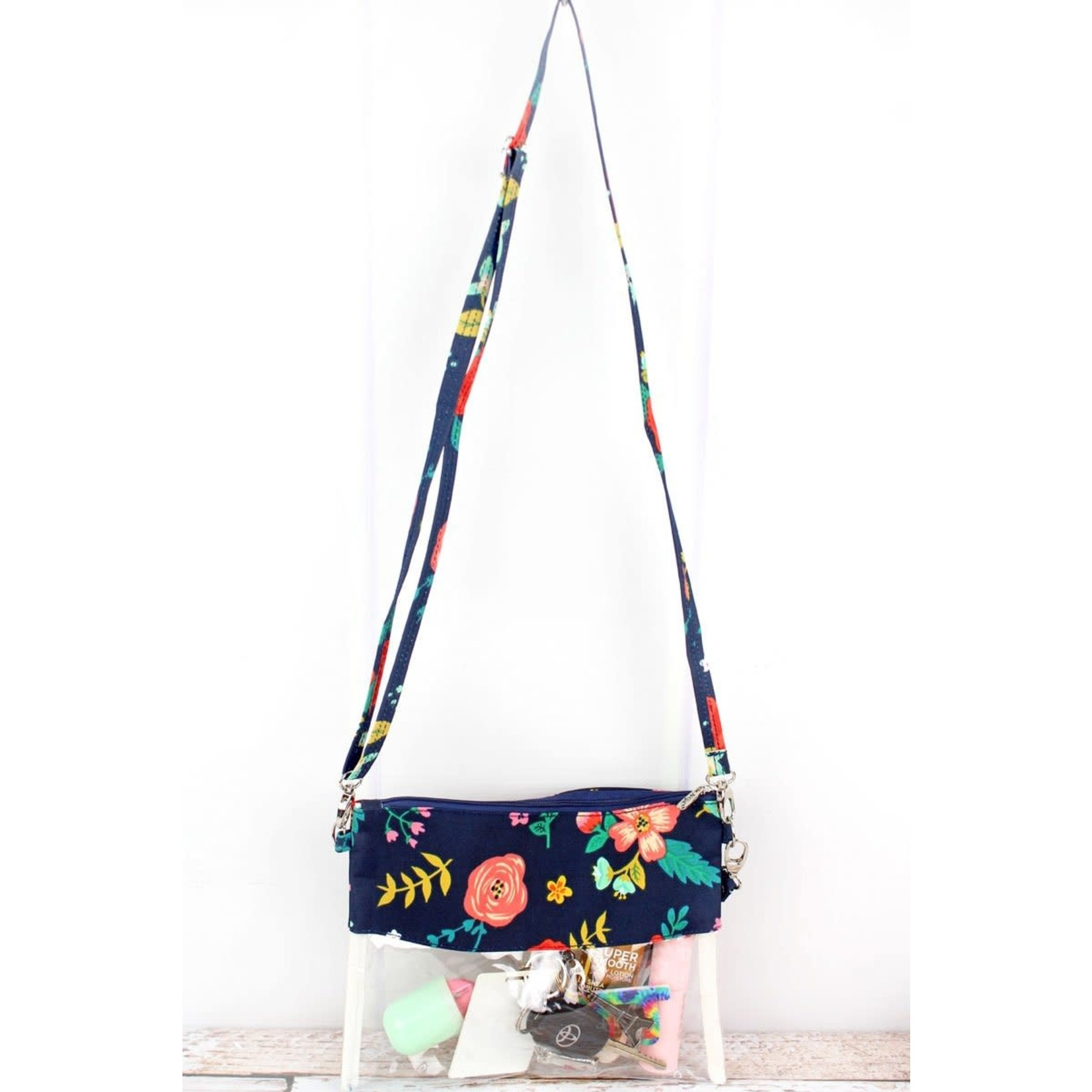 Spring Blossoms Clear Crossbody Bag