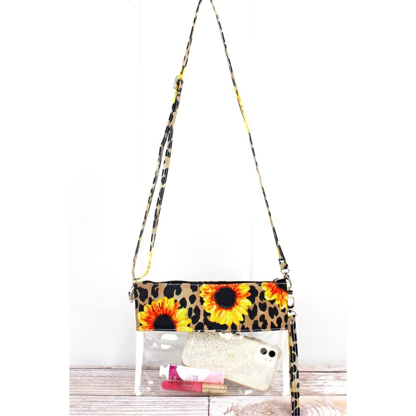 Leopard Sunflower Stadium Bag