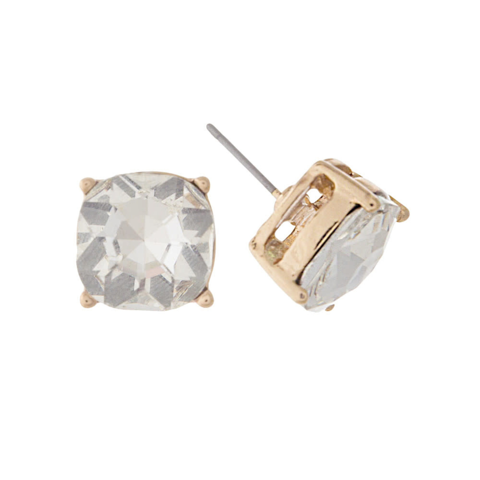 Gold/Clear Studs