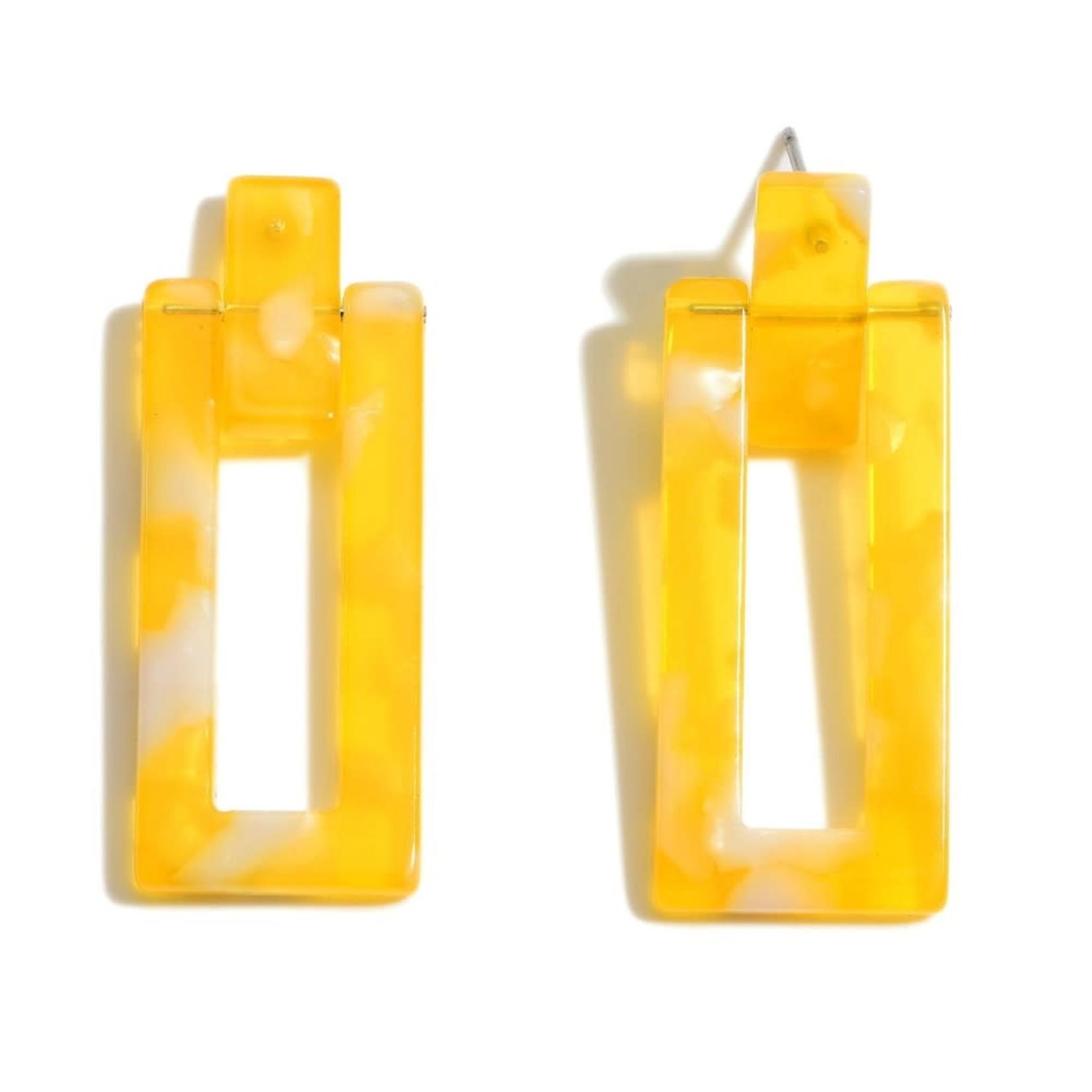 Yellow resin rectangle drop