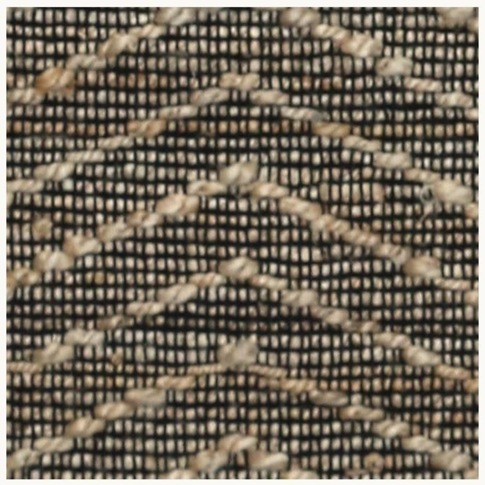 CC Interiors Black & Natural Zig Zag Jute & Cotton Rug