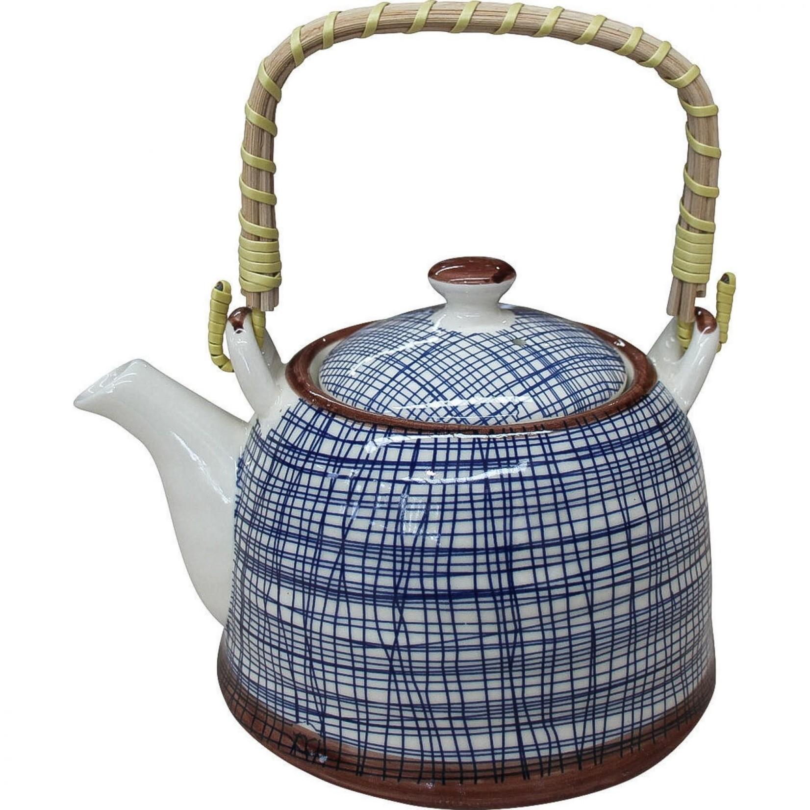 LaVida Teapot Blue Lines