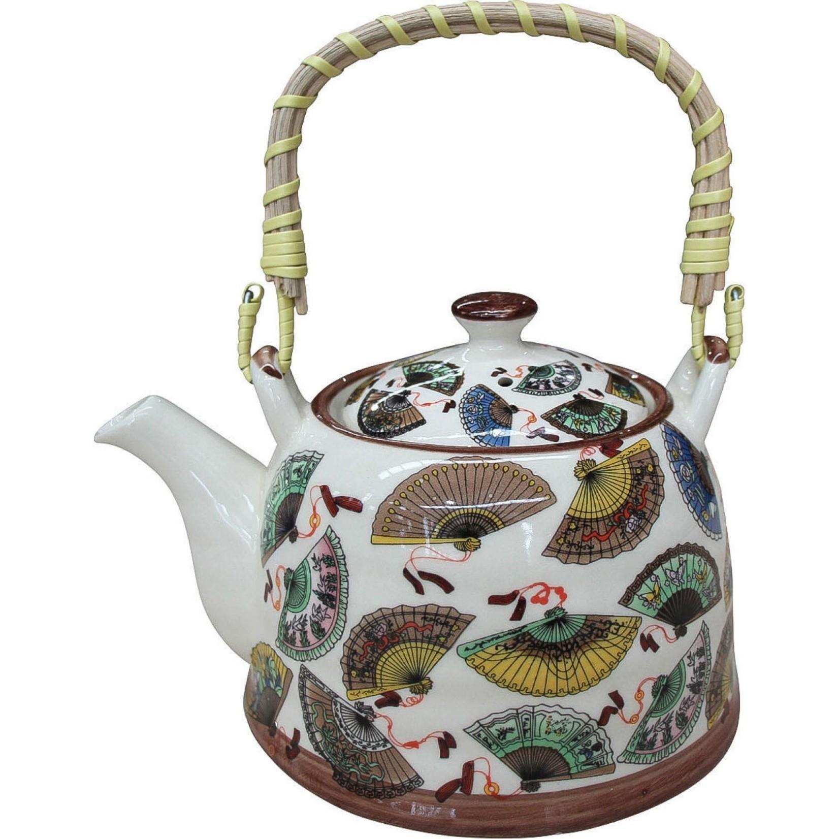 LaVida Teapot Oriental Fans