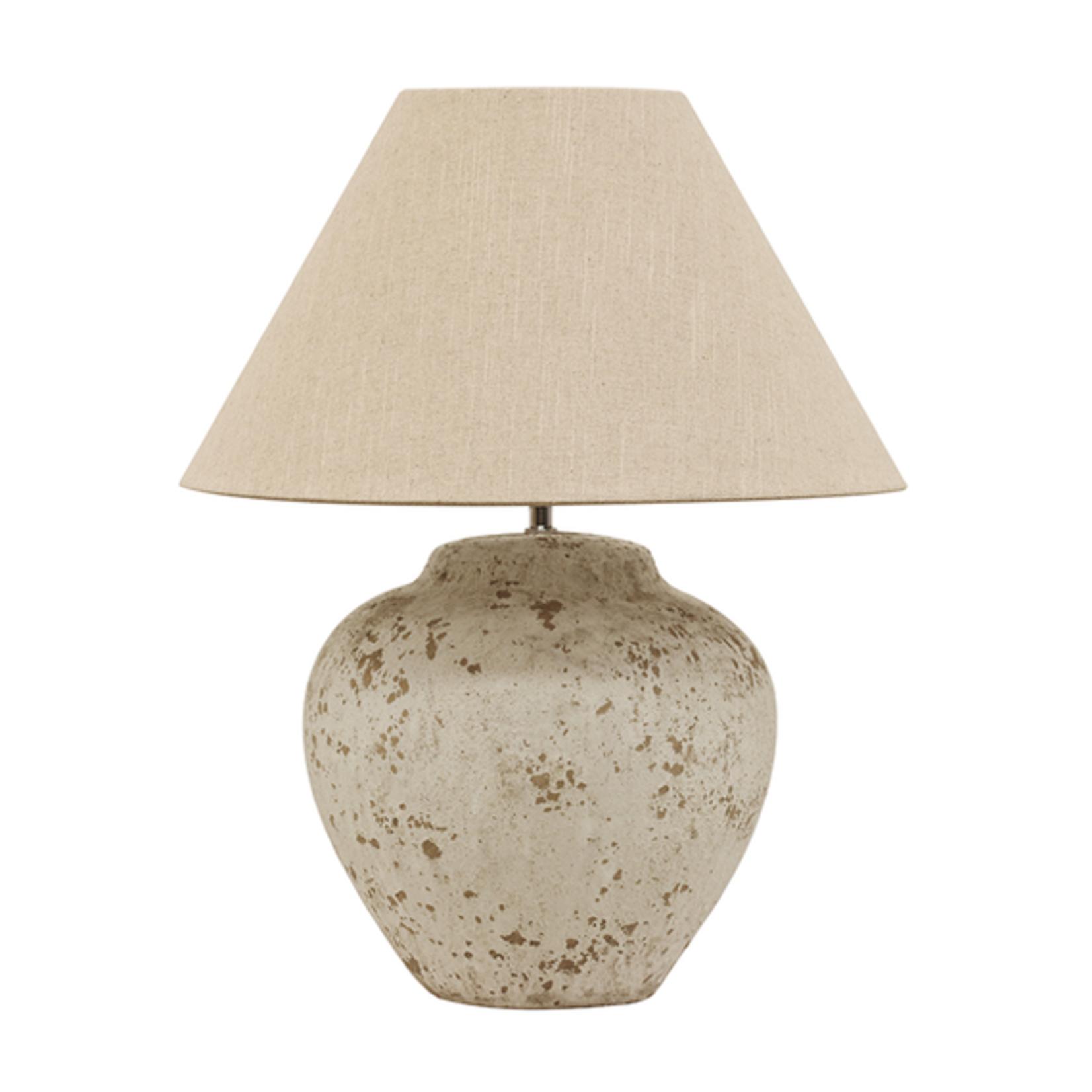 CC Interiors Tuscan Style Stone Lamp Medium