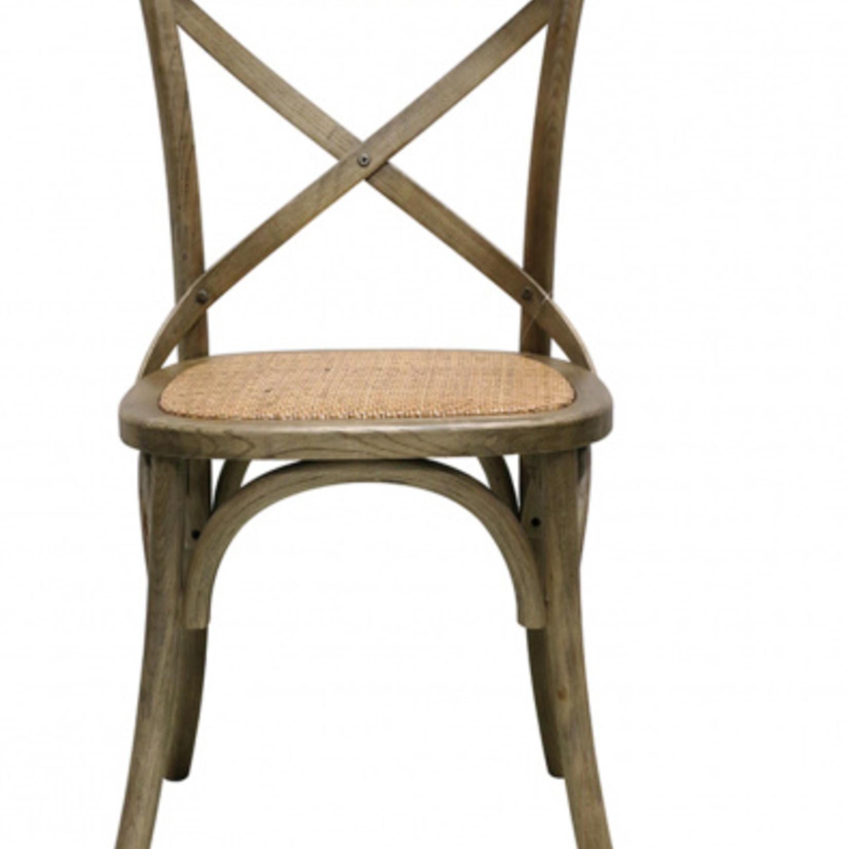 CC Interiors Vienna Elm Chair with Metal Cross Back