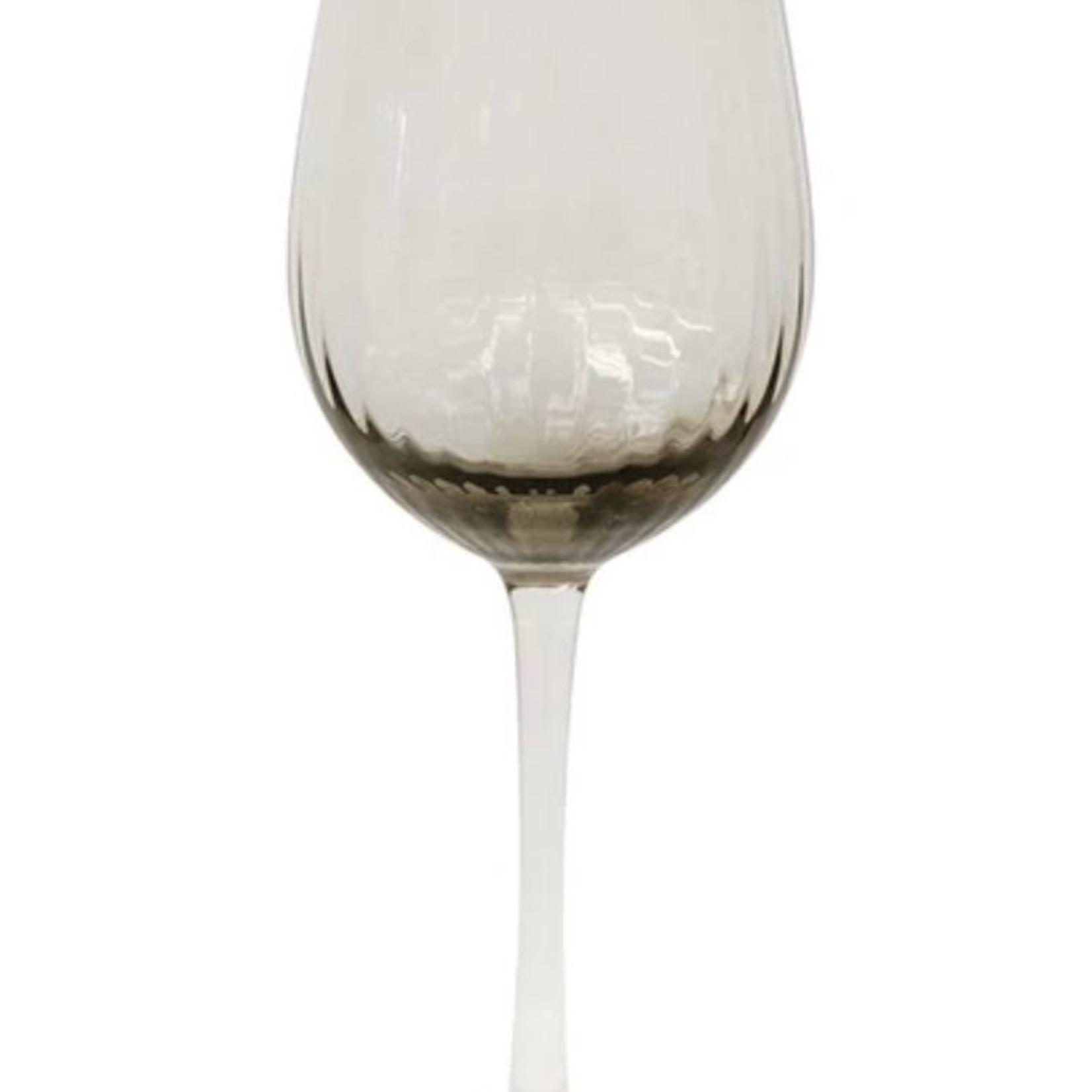 CC Interiors Set of 8 Smoked Wine Glass