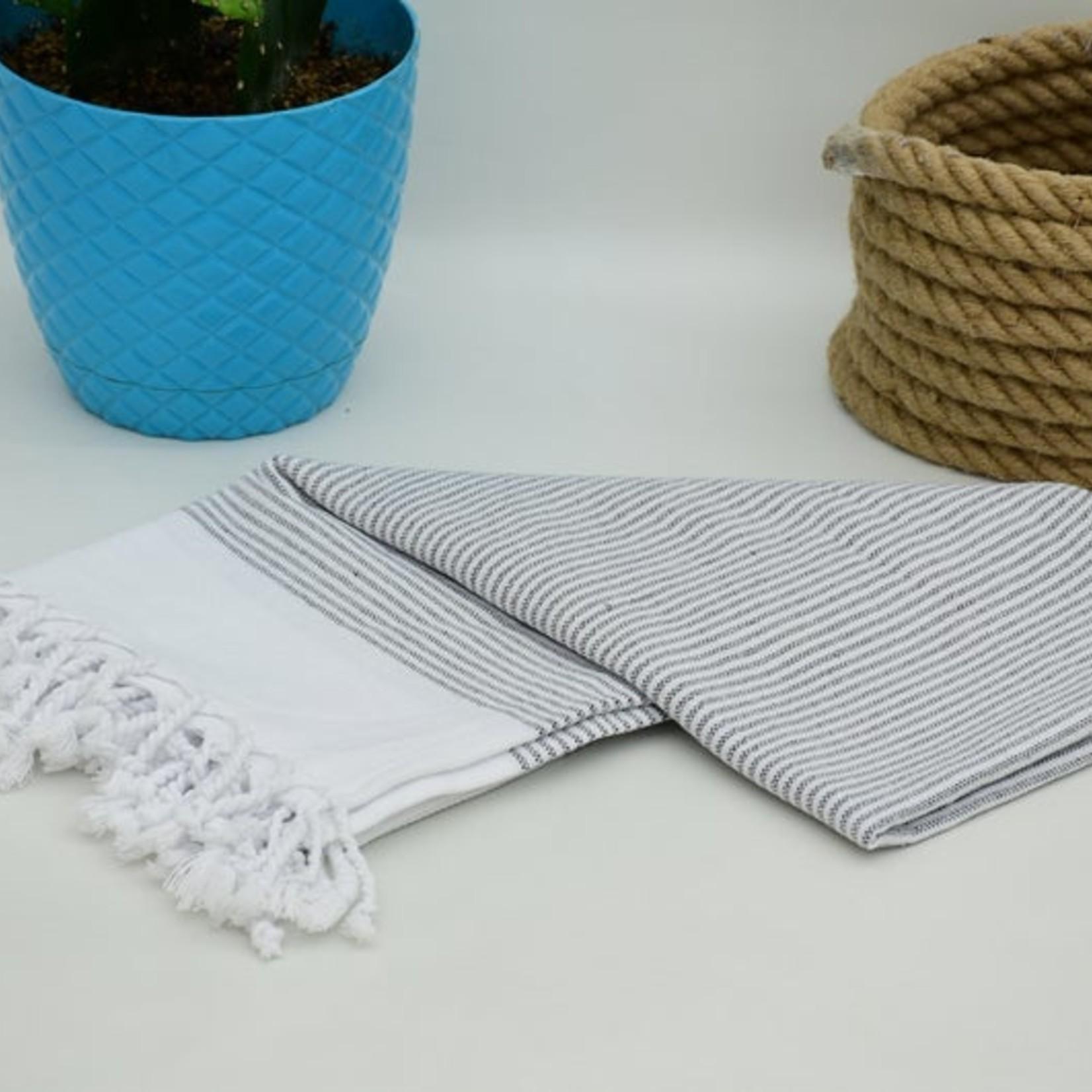 Organic Turkish Towels Striped  Organic Turkish Tea Towel/Hand Towel