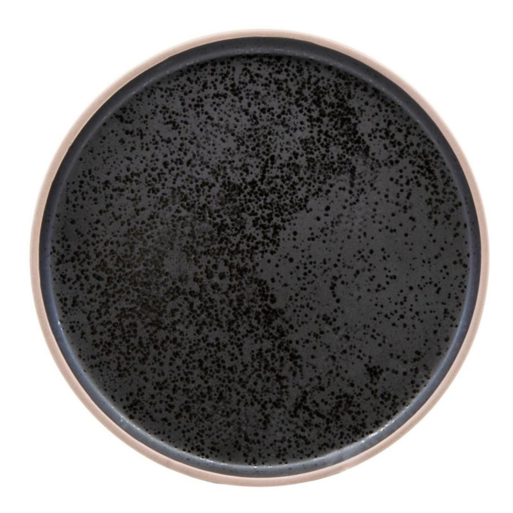 Salt & Pepper 12pc Salt & Pepper Hana Stoneware Dinner Set - Black