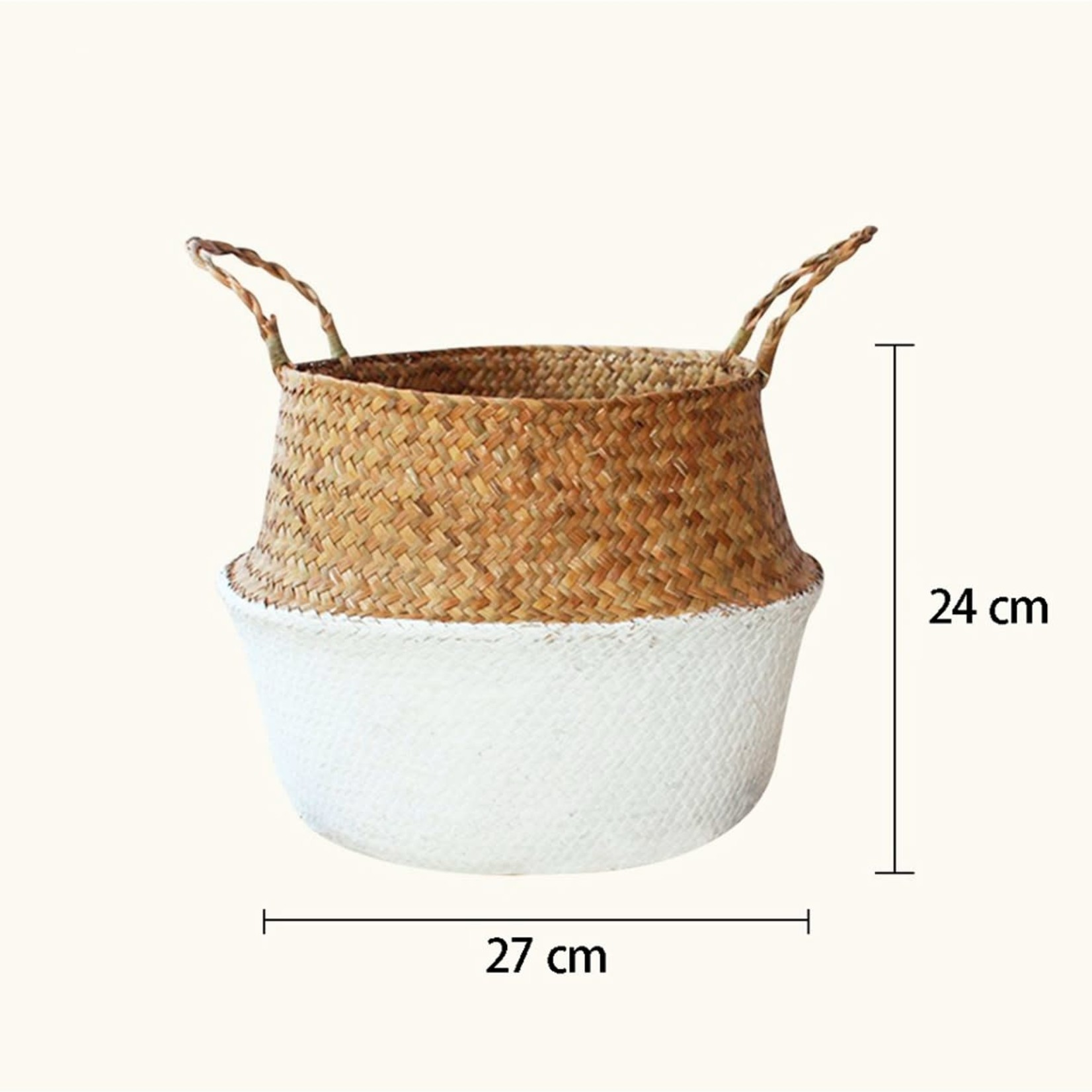 Page&Co. Woven Seagrass Flower Basket - Large