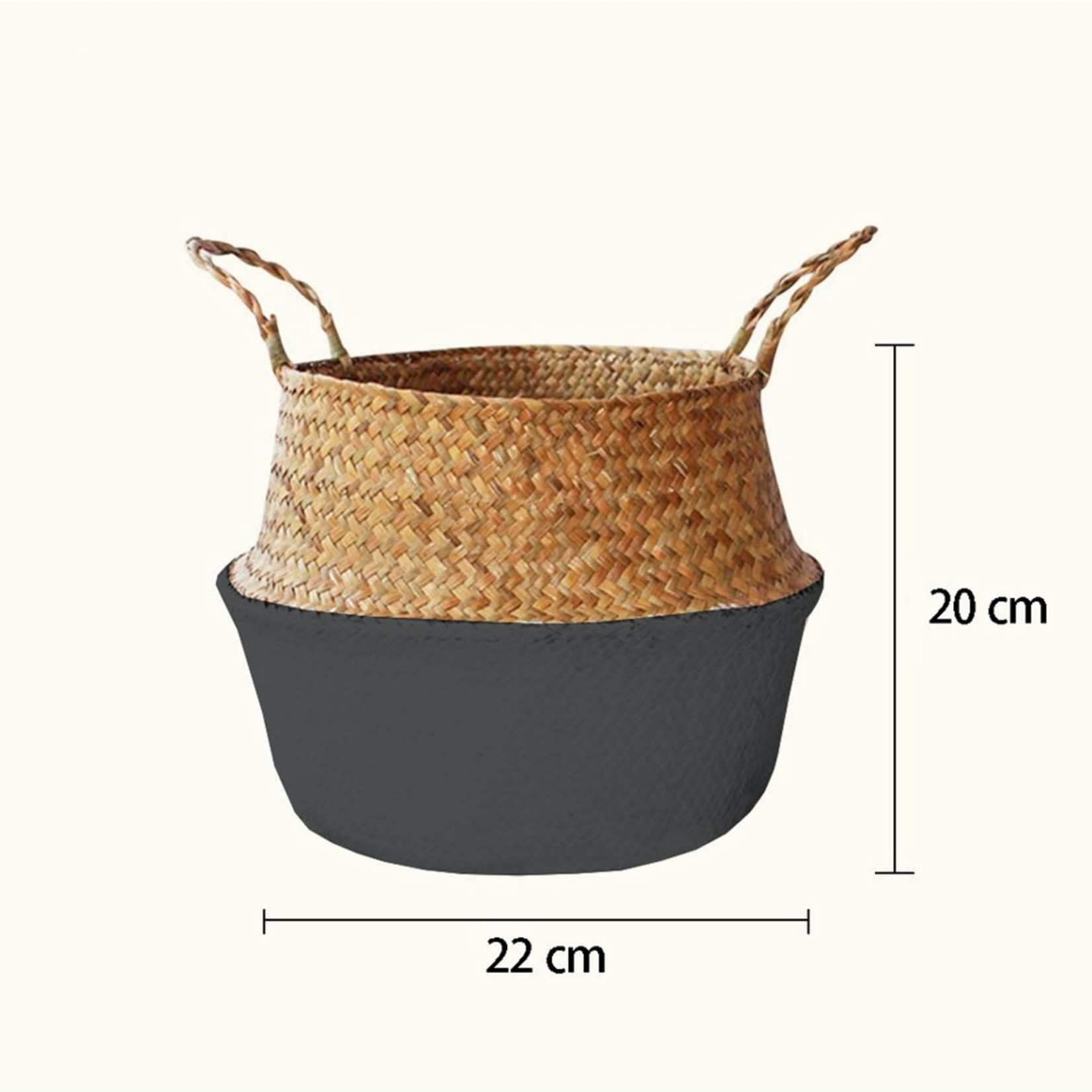 Page&Co. Woven Seagrass Flower Basket - Medium