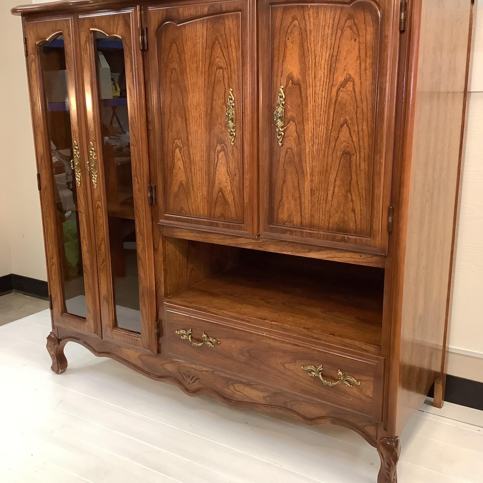 Wooden Entertainment/Shelving Unit (#1839)