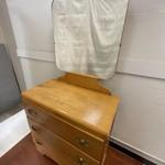 Wood dresser with mirror