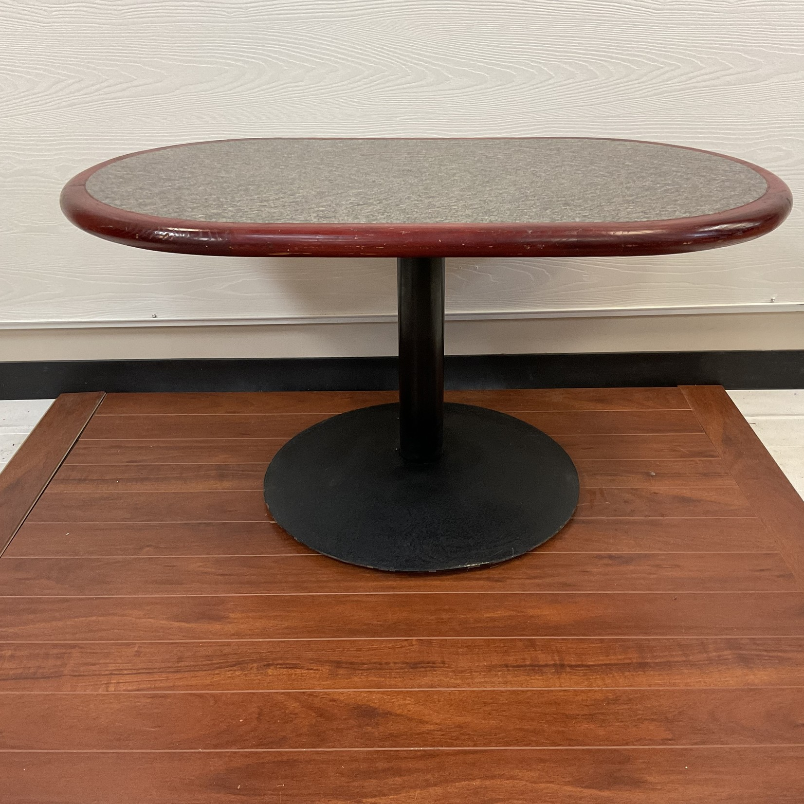 Granite top oval coffee table
