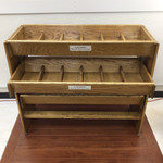 Wooden Shelving Units with multiple drawers