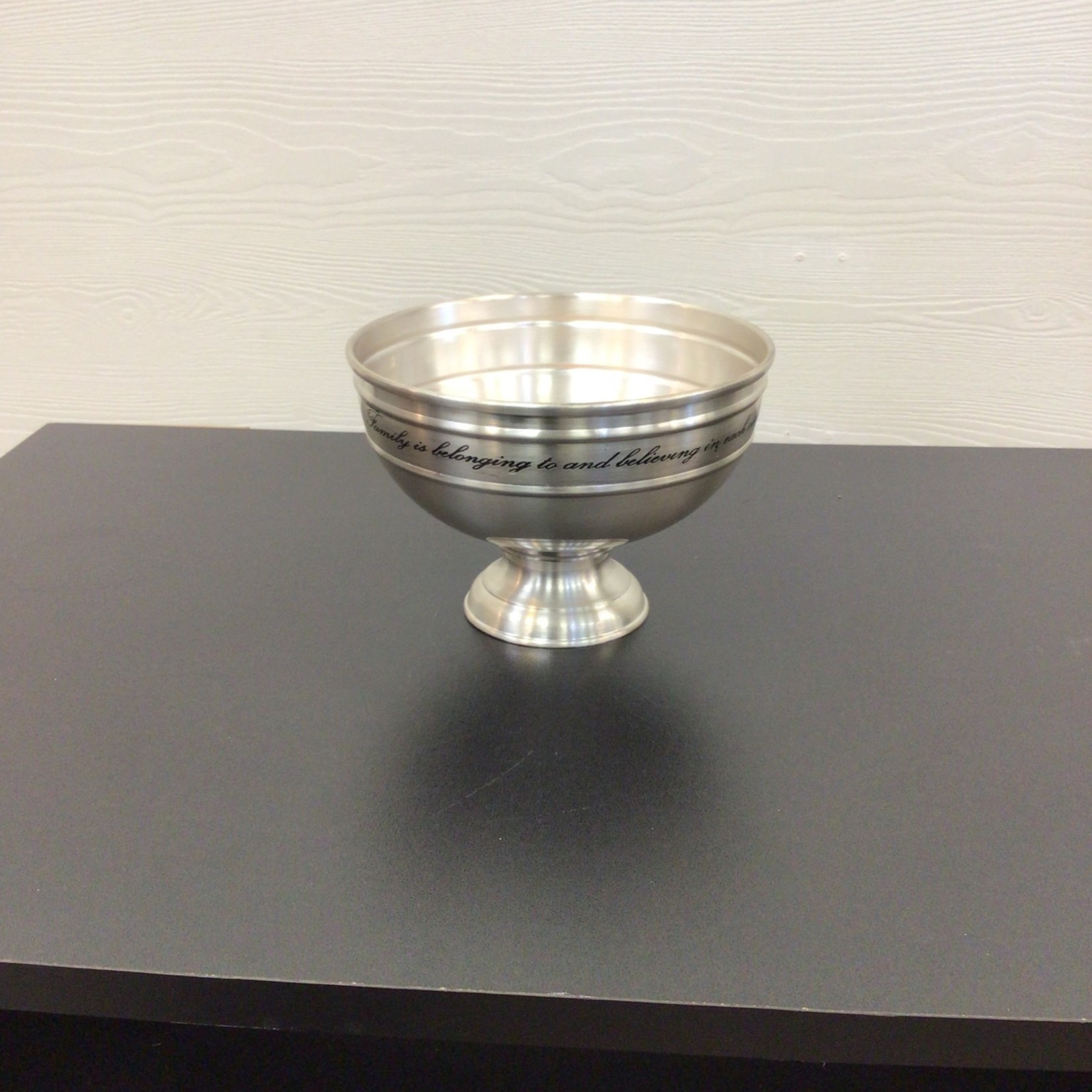 Vintage Engraved Silver Plated Decorative Bowl