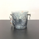 Pineapple Patterned Glass Ice Bucket