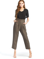 Papillon Tailored Zip Up Pants with Button