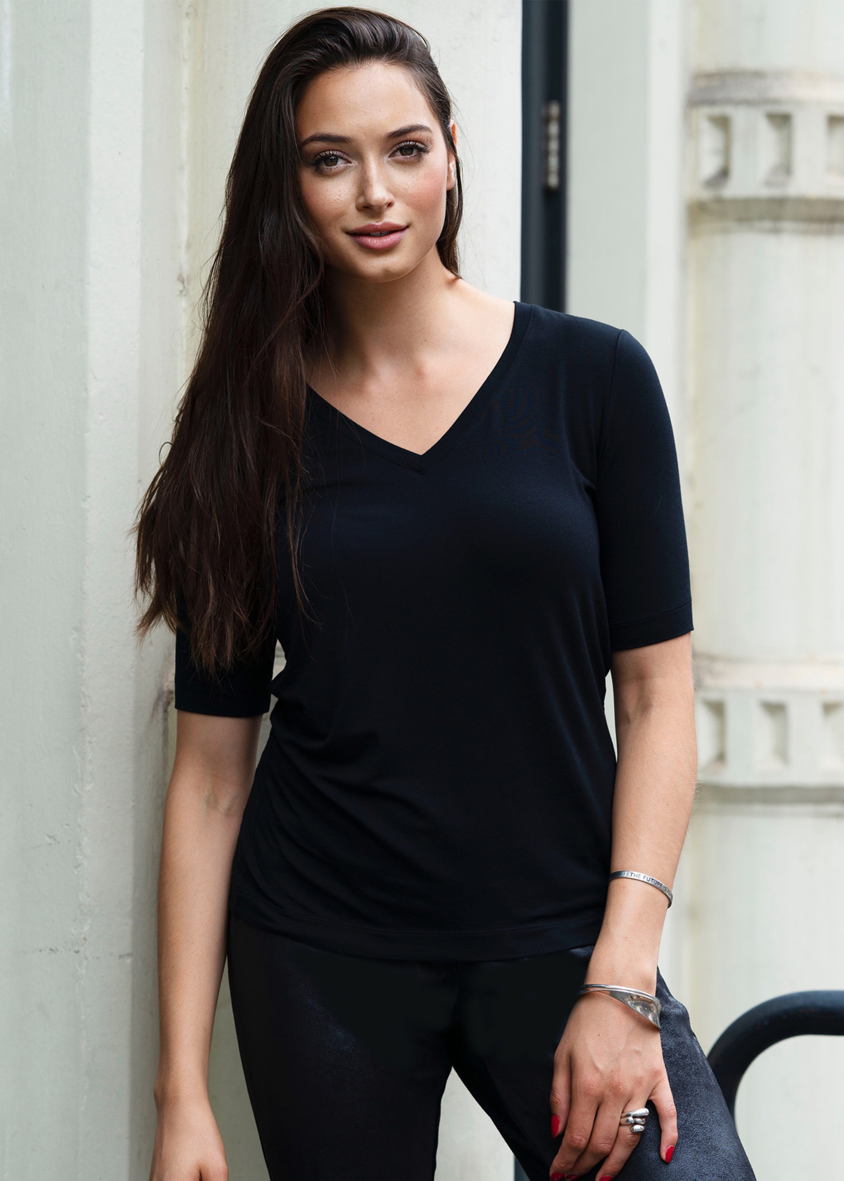 Duette NYC Perfect V Neck Tee