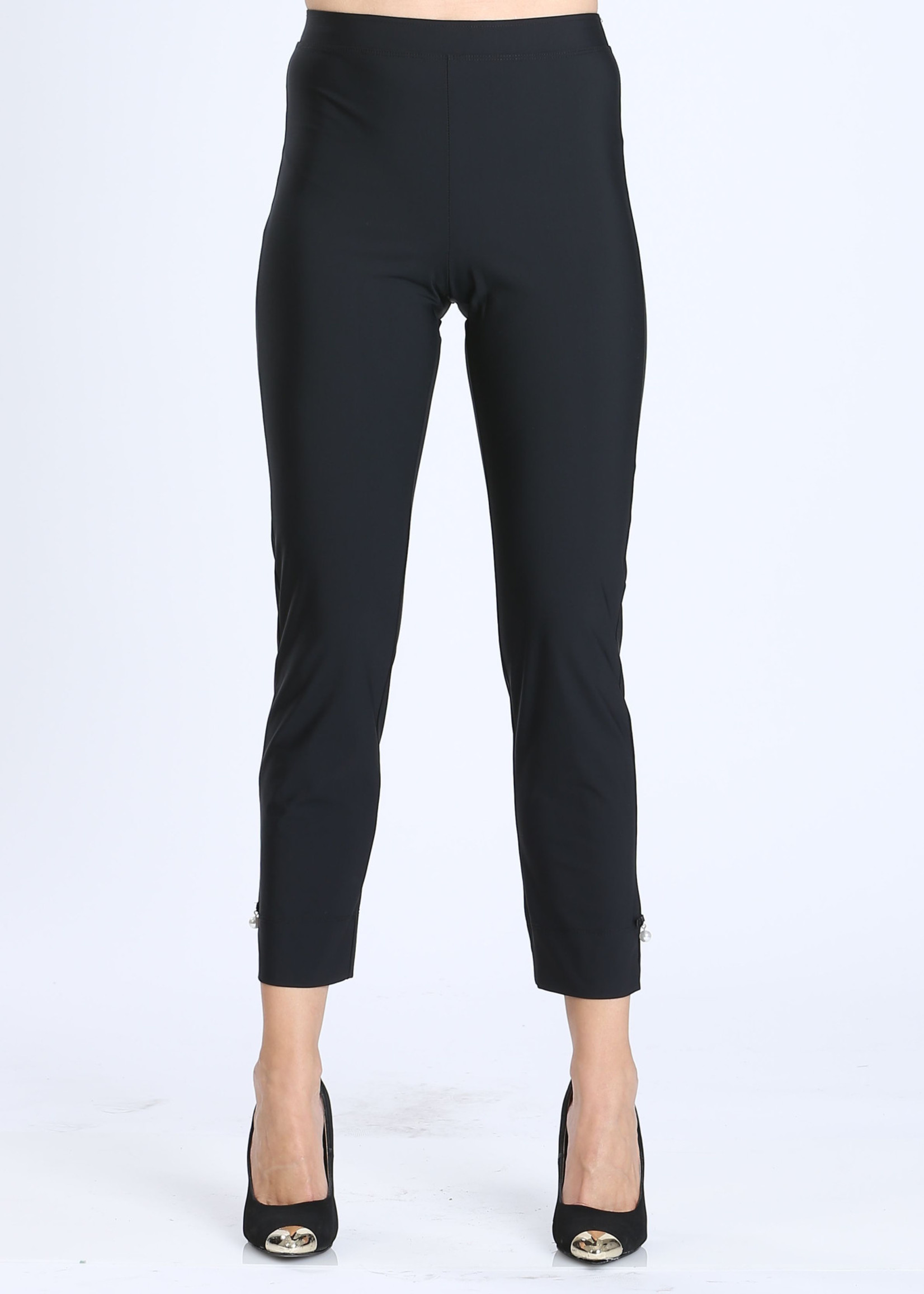 IC Collection Black Pants With Pearl Detail