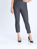 IC Collection Smoke Grey Pants With Button Detail