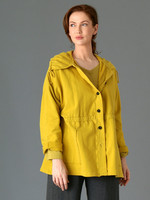 Fenini Button Up Collared Jacket Canary
