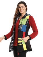 Parsley and Sage Reversible Patch Work Hooded Vest