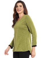 Parsley and Sage Reversible Green Long Sleeve Shirt
