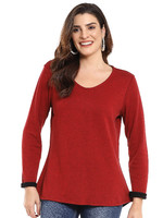 Parsley and Sage Reversible Red Long Sleeve Shirt