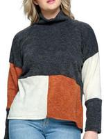 Yak & Yeti Color Block Turtleneck Sweater