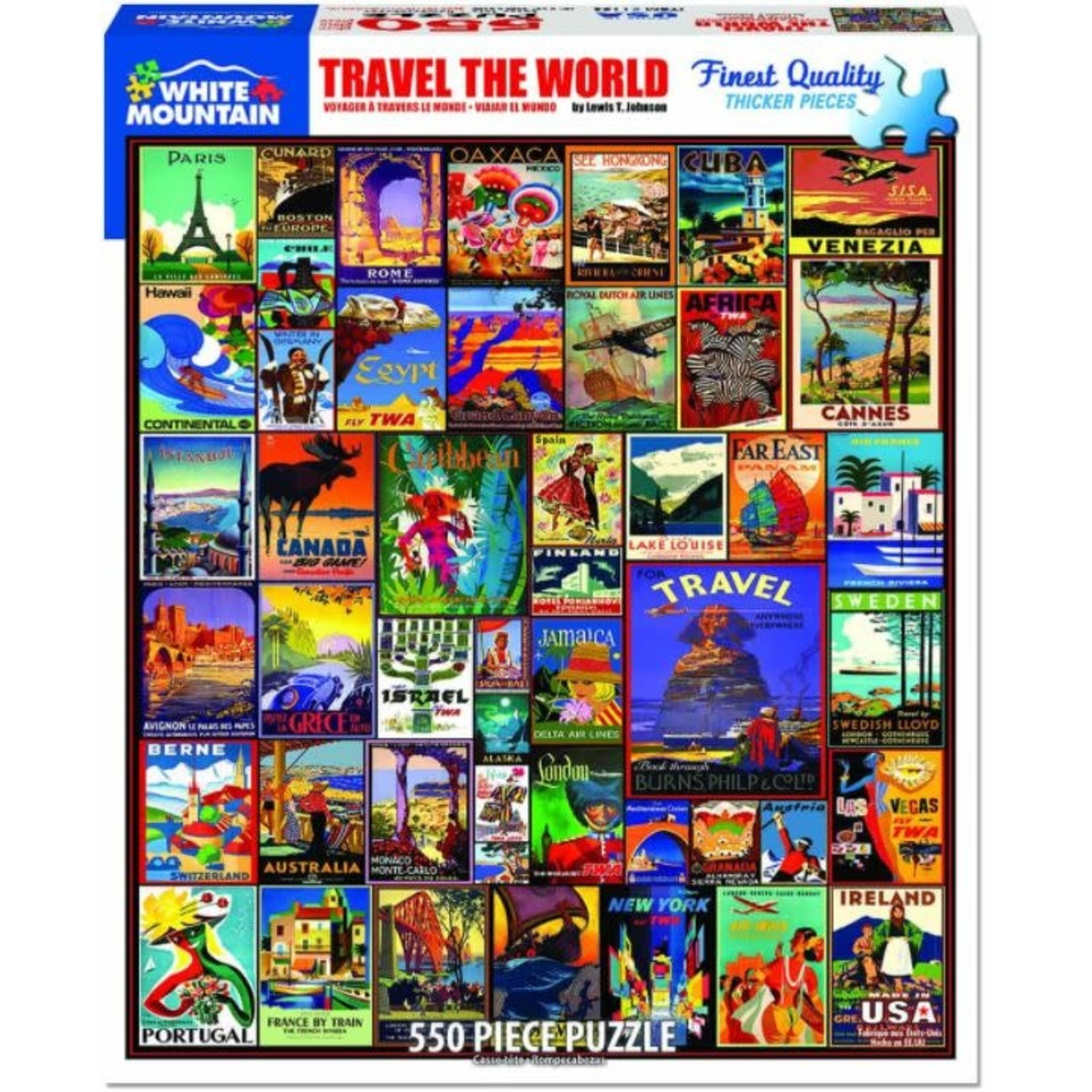 TRAVEL THE WORLD 550 PUZZLE