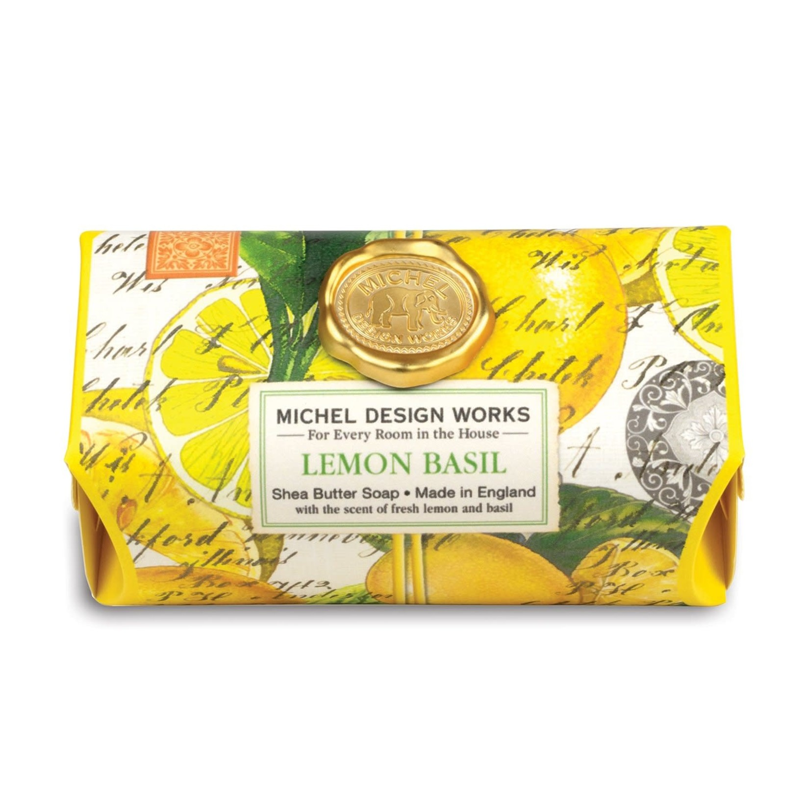 Michel Designs LEMON BASIL LARGE BATH SOAP BAR