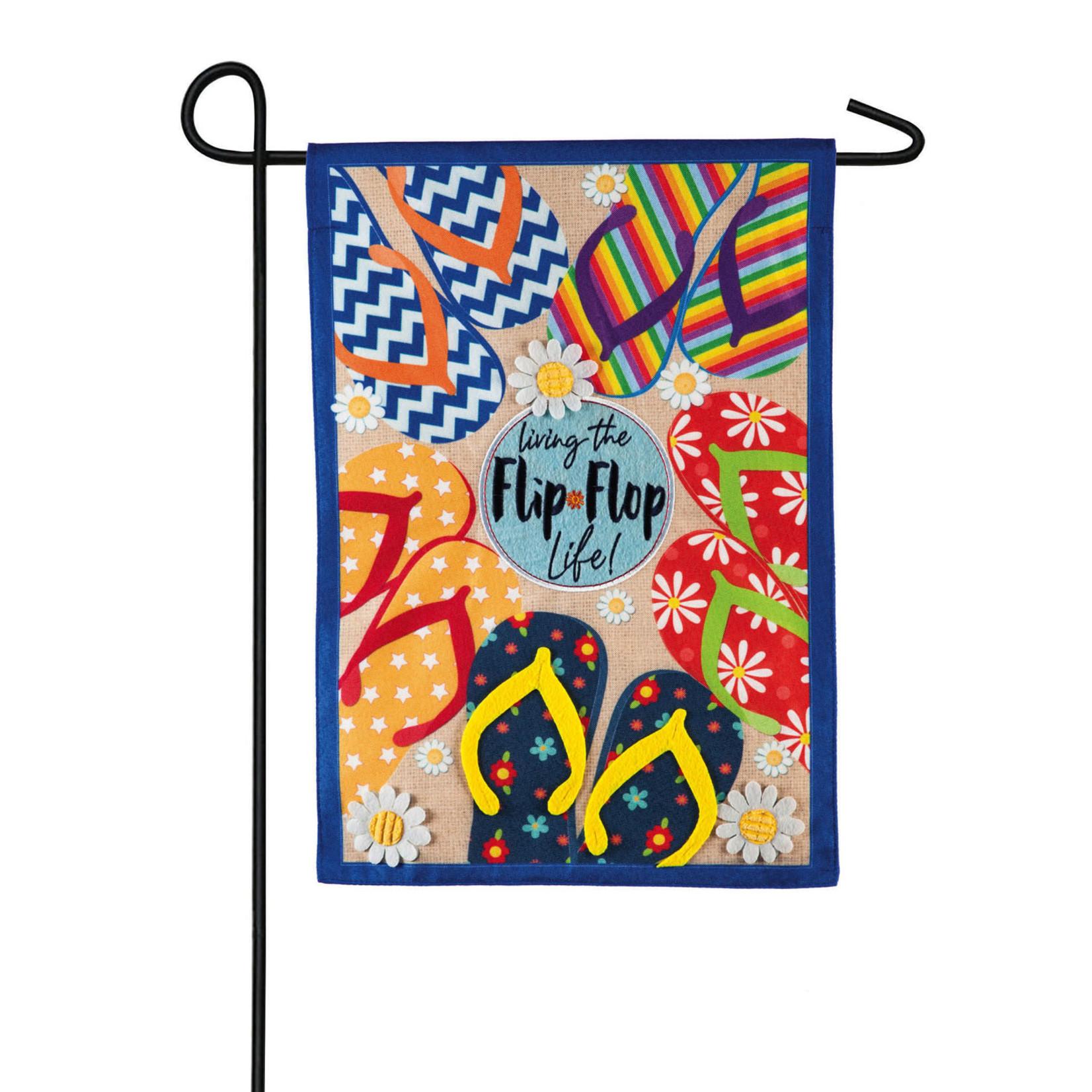 FLIP FLOP LIFE GARDEN FLAG