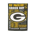 GREEN BAY PACKER FANS RULE GARDEN FLAG