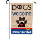DOGS WELCOME PEOPLE TOLERATED FLAG