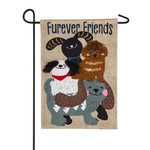 FUREVER DOG FRIENDS GARDEN FLAG