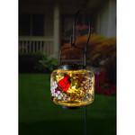 SOLAR GLASS LANTERN W/ CARDINAL