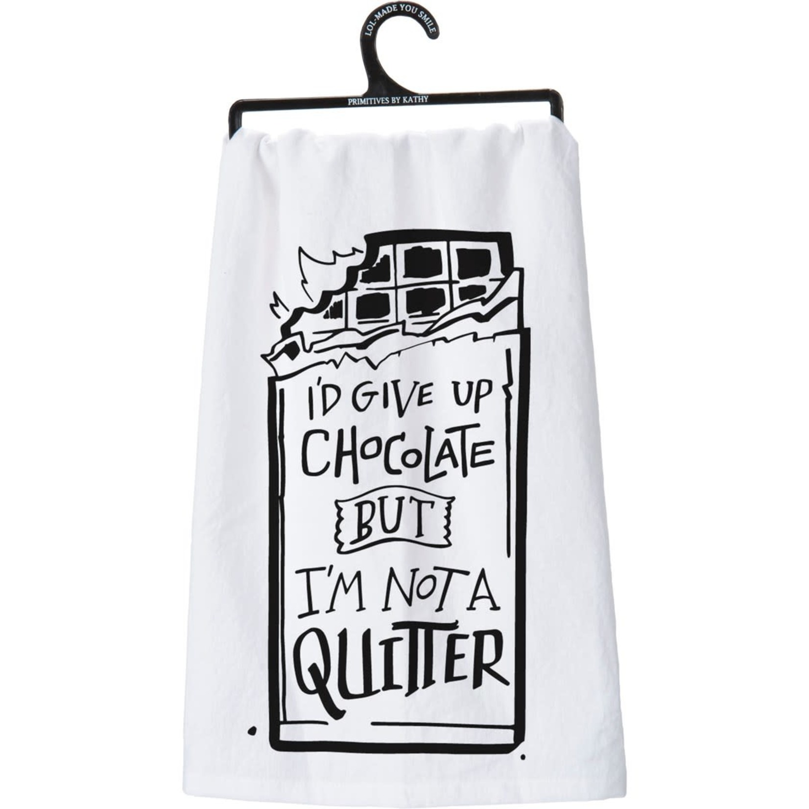 """""""I'M NOT A QUITTER"""" DISH TOWEL"""