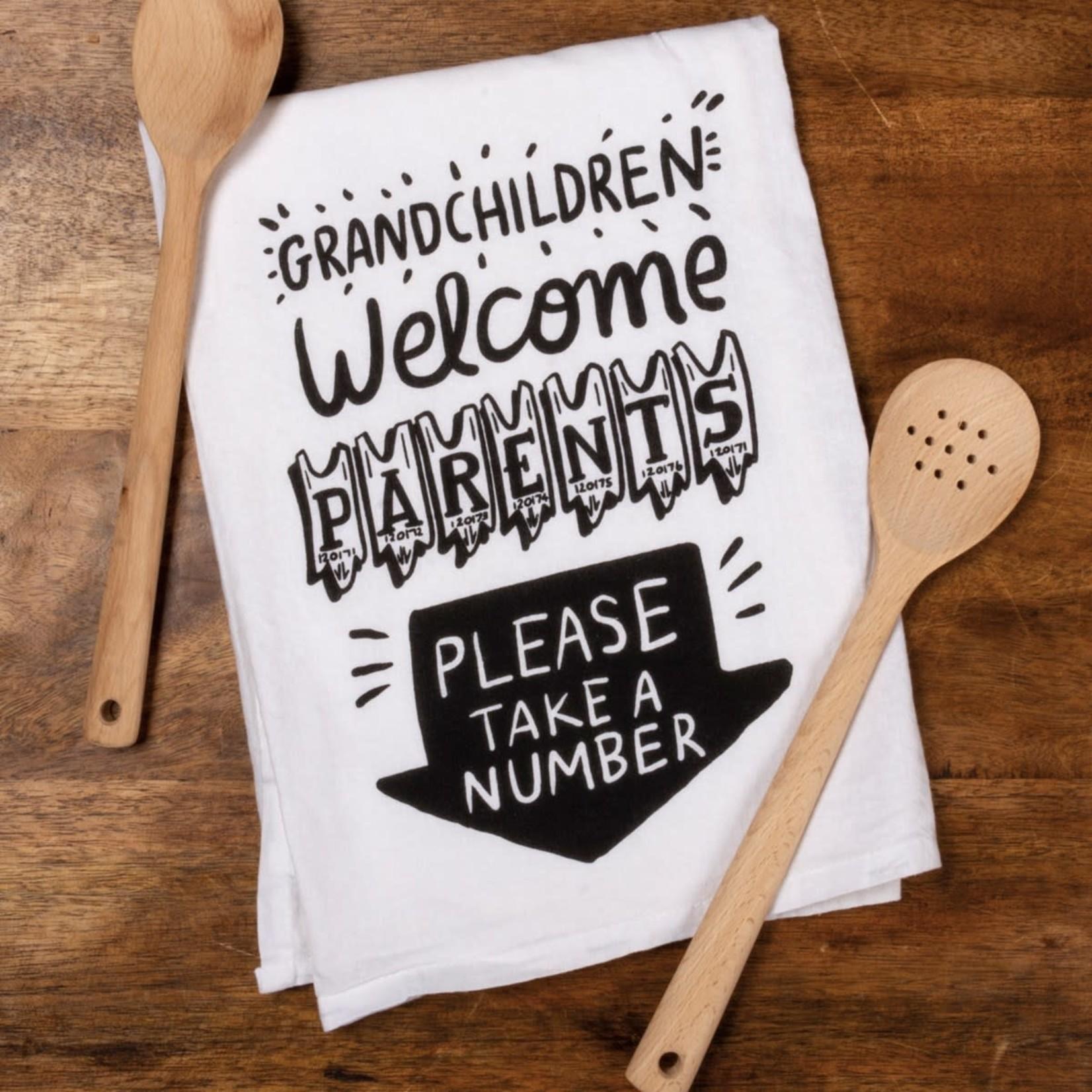 GRANDCHILDREN WELCOME DISH TOWEL