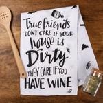 """""""TRUE FRIENDS"""" DISH TOWEL"""