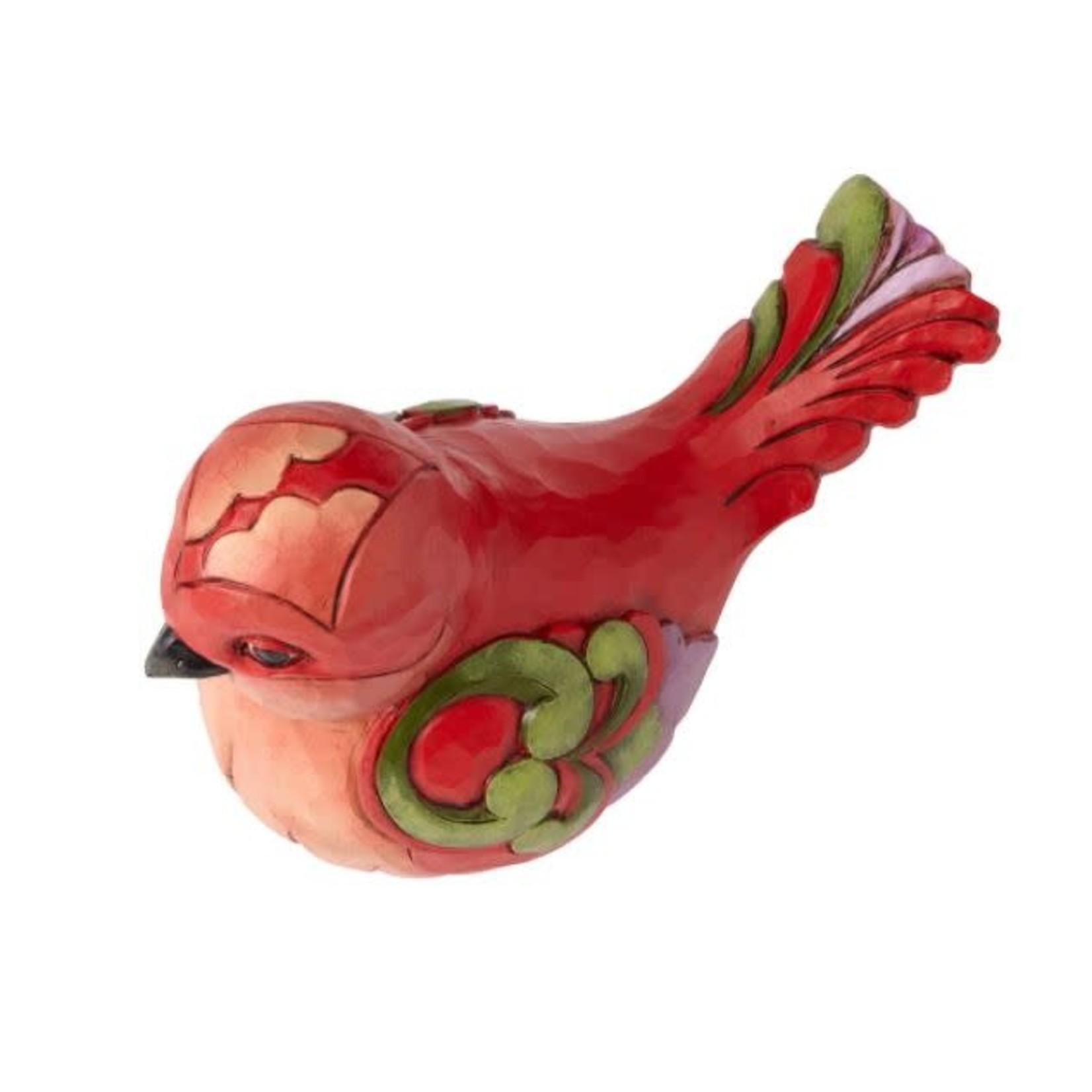 Jim Shore  RED SWIRLS BIRD FIG