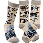 """""""DOGS AND WINE"""" SOCKS"""